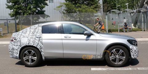 Mercedes-Benz GLC Coupe spy photos