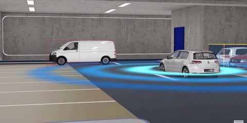 Volkswagen V-Charge pairs automated valet parking with wireless EV charging