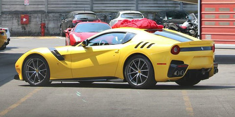 Ferrari F12 facelift photographed completely undisguised