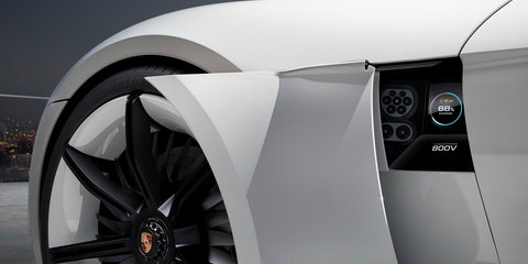 Porsche Mission E revealed, hints at all-electric Tesla rival
