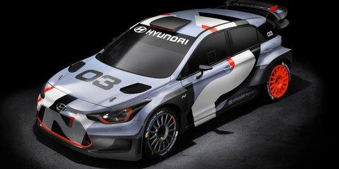 2016 Hyundai i20 : five-door WRC car previewed at Frankfurt motor show