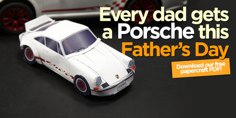 Father's Day 2015 : Porsche 911 Carrera RS 2.7 papercraft model
