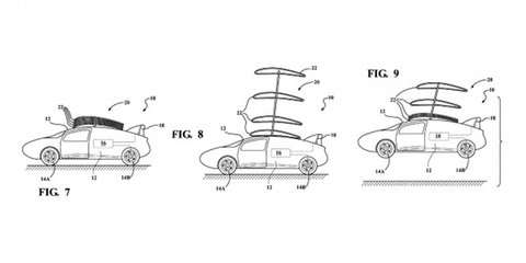 Toyota patents stackable wings for a flying car