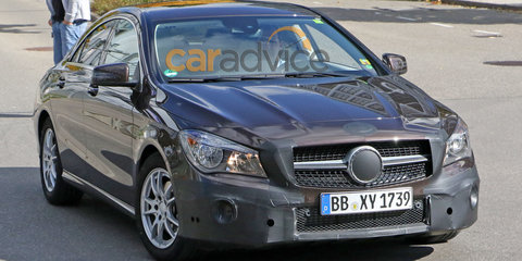 2016 Mercedes-Benz CLA facelift spy photos