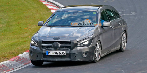 Mercedes-Benz CLA Shooting Brake facelift spy photos