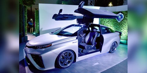 Toyota Mirai coupe with gull-wing doors celebrates Back to the Future day