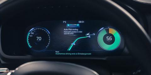 Volvo IntelliSafe Auto Pilot driverless technology previewed - video