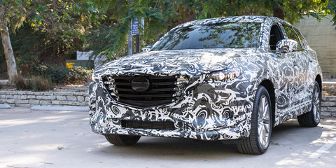 2016 Mazda CX-9 Review : Camouflage development car drive
