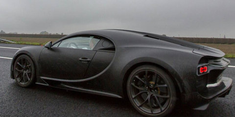 "Bugatti ""Chiron"" spied undisguised by Instagram user"