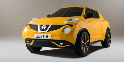 Origami Nissan Juke celebrates car's fifth birthday