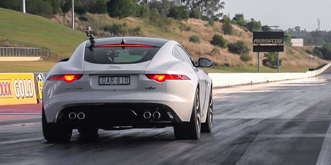 Jaguar F-Type R AWD Coupe at Sydney Dragway