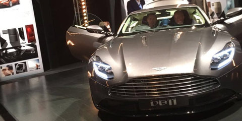 2017 Aston Martin DB11 front-end and profile surface online - UPDATE