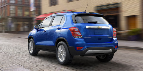 2017 Holden Trax update revealed in Chevrolet skin - UPDATE