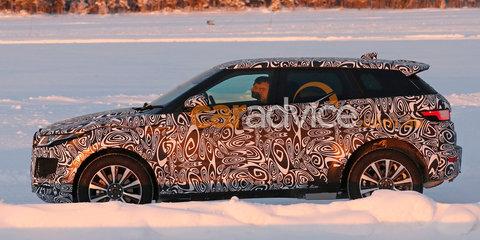 Jaguar E-Pace mule spy photos