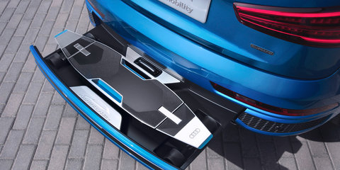Audi Q3 concept showcases integrated electric longboard