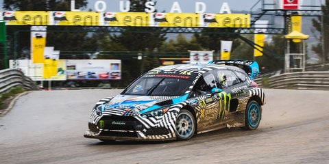 Ford Focus RS RX makes World Rallycross debut with Ken Block - video