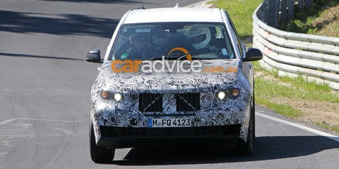 2017 BMW X3 spied testing at the Nurburgring