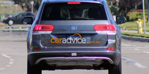 Volkswagen Crossblue-based large SUV spied testing