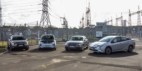 Audi A3 e-tron v BMW i3 v Citroen C4 Cactus v Toyota Prius: Economy comparison test part one
