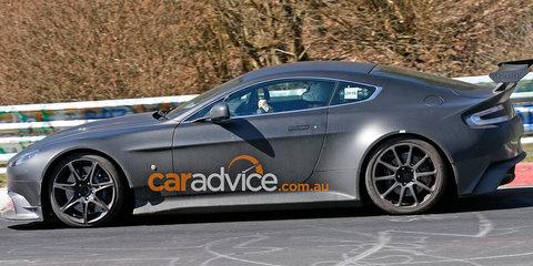 2016 Aston Martin Vantage GT8 spied testing at the Nurburgring