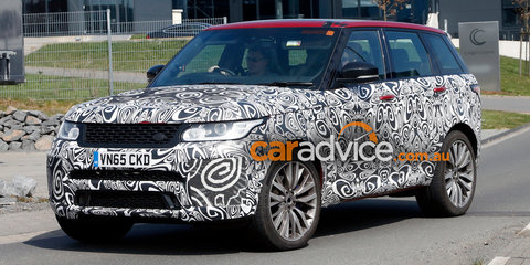 2017 Range Rover Sport SVR spied testing, performance upgrades expected