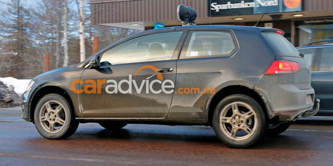 Volkswagen small SUV spied testing in Golf outfit
