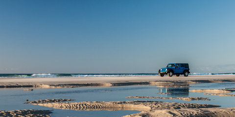 2016 Jeep Wrangler Unlimited road trip to Moreton Island