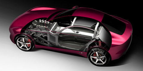 TVR showcases iStream Carbon chassis for new sports car
