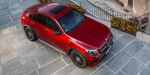 2017 Mercedes-Benz GLC Coupe: six variants for Australia, AMG 43 and 63 confirmed