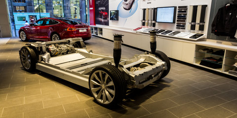 Tesla's new Sydney store has your first local close-up of the Model X SUV