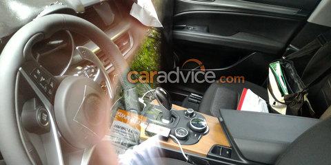 2018 Alfa Romeo Stelvio spied inside and out