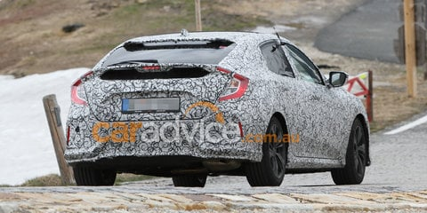 2017 Honda Civic hatch spied