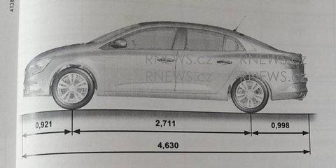 2017 Renault Megane sedan revealed in manual leak