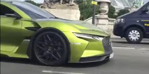 DS E-Tense concept spied on the roads of Paris