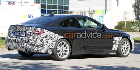 2017 BMW 4 Series coupe facelift spied