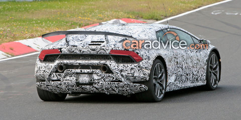 2017 Lamborghini Huracan Superleggera spied with production parts