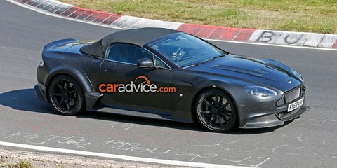 Aston Martin Vantage GT12 Roadster spied at the Nurburgring