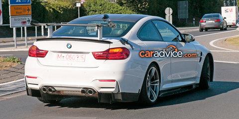 BMW M4 GT4 spied at the Nurburgring