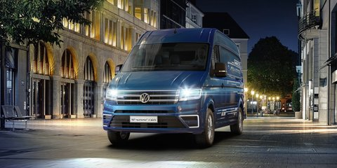 Volkswagen e-Crafter electric van concept revealed