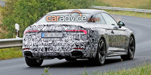 2018 Audi RS5 coupe spied with less camouflage - UPDATE