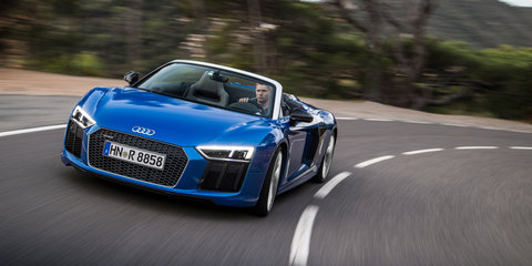 """2017 Audi R8 Spyder pricing and specs: """"Lighter, stiffer and faster"""" droptop here next year"""