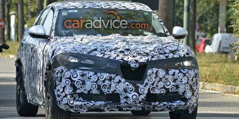 2018 Alfa Romeo Stelvio spied revealing more details