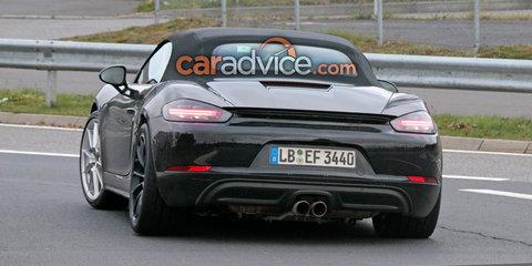 Porsche 718 Boxster GTS spied testing