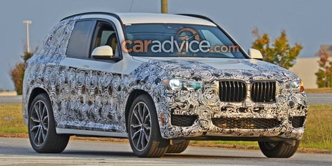 2017 BMW X3 spied with less camouflage