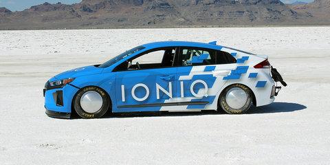 Hyundai Ioniq sets land speed record at Bonneville Salt Flats