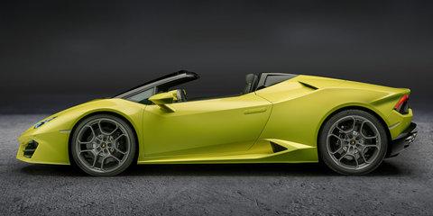 2017 Lamborghini Huracan Rear-Wheel Drive Spyder revealed, on sale in Australia