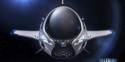 Lexus imagines a 'SkyJet' spaceship for upcoming sci-fi flick Valerian