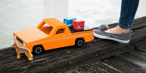 Iconic Aussie ute immortalised as wooden toy:: Your chance to win!