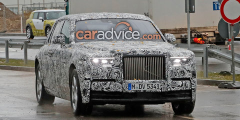 2018 Rolls-Royce Phantom spied without false body panels