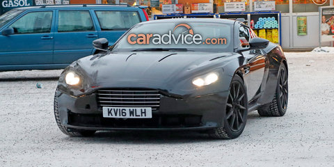 2018 Aston Martin Vantage spied in the snow